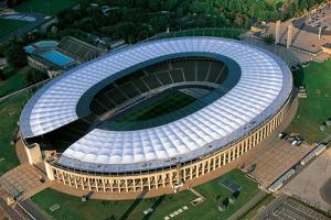 An Aerial View of Olympic Stadium, Olympiastadion, in Berlin by Marcello Bertinetti