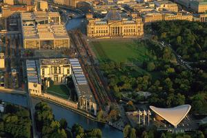 An Aerial View of the Band Des Bundes, or Band of Federation, and the Reichstag at Sunset by Marcello Bertinetti