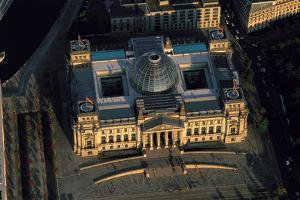 An Aerial View of the Reichstag, at Sunset by Marcello Bertinetti