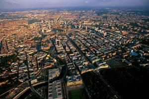 An Aerial View of the Riechstag, the West Gate of Berlin, and the Surrounding Landscape by Marcello Bertinetti