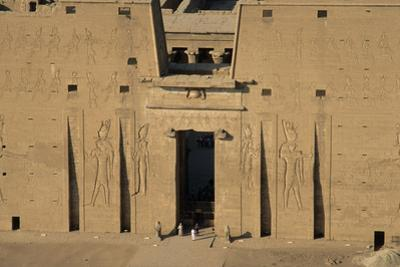 The Main Entrance of the Temple of Edfu by Marcello Bertinetti