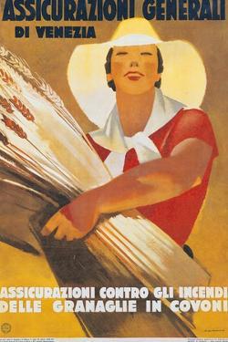 Assicurazioni Generali di Venezia (Poster for Crop Insurance) by Marcello Dudovich