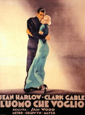 Hold Your Man, Clark Gable and Jean Harlow by Marcello Dudovich