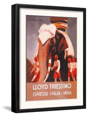 Lloyd Triestino Espresso Itali India by Marcello Dudovich