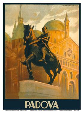 Padova (Padua), Italy - Equestrian Statue of Gattamelata - St. Antonio Basilica by Marcello Dudovich