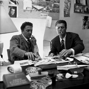 Marcello Mastroianni and Fellini