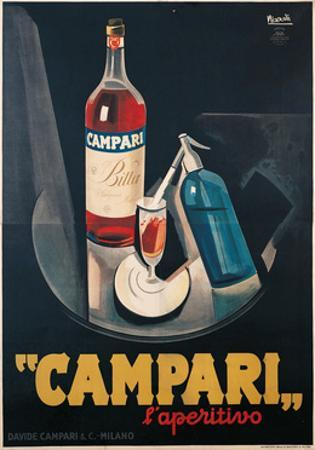 Poster Advertising Campari l'aperitivo by Marcello Nizzoli