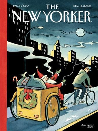 The New Yorker Cover - December 15, 2008 by Marcellus Hall
