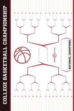 March Madness Bracket (NCAA Basketball) Sports Plastic Sign