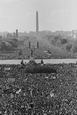Marchers on the National Mall During the Million Man March, in View Towards the Washington Monument