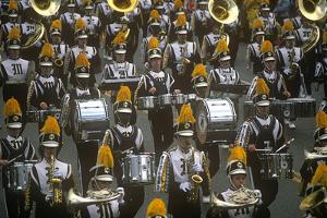 Marching Band, Rosebowl Parade, New Year's Celebration, Pasadena, California