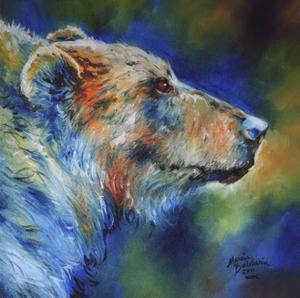 Bear Abstract by Marcia Baldwin