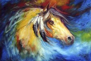 Blue Thunder War Pony by Marcia Baldwin