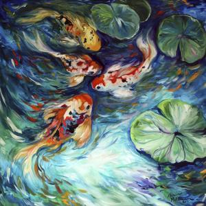 Dancing Colors Koi by Marcia Baldwin