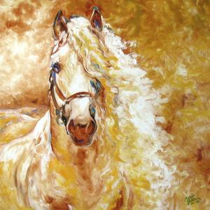 Golden Grace Andalusian Equine by Marcia Baldwin