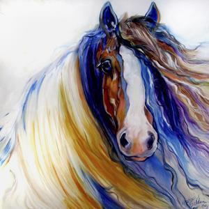 Gypsy Vanner Rouge by Marcia Baldwin