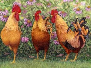 Roosters en Place I by Marcia Matcham