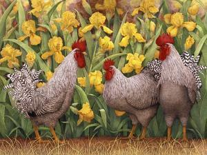 Roosters en Place II by Marcia Matcham