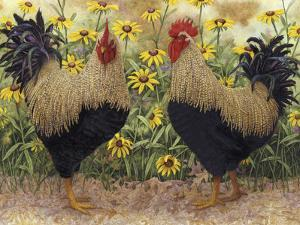 Roosters en Place III by Marcia Matcham