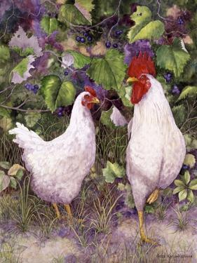 Roosters en Place IV by Marcia Matcham