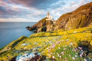 Baily lighthouse, Howth, County Dublin, Ireland, Europe. by Marco Bottigelli