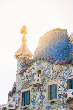 Barcelona, Catalonia, Spain, Southern Europe. The unique Antoni Gaudi's architecture of Casa Batllo by Marco Bottigelli
