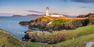 Fanad Head (Fánaid) lighthouse, County Donegal, Ulster region, Ireland, Europe. Panoramic view of t by Marco Bottigelli