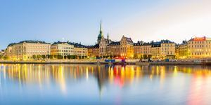 Gamla stan, Stockholm, Sweden, Northern Europe. Cityscape panorama at sunrise. by Marco Bottigelli