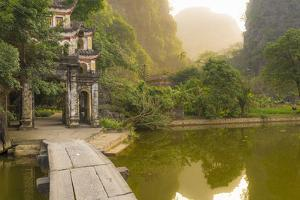 Ninh Binh, Northern Vietnam. Bich Dong Pagoda Nearby Ngu Nhac Mountain. Mountain. by Marco Bottigelli