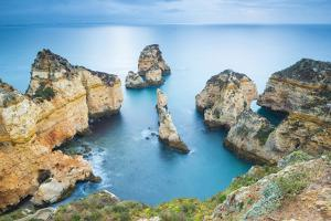 Ponta da Piedade, Lagos, Algarve, Portugal. Iconic cliffs of Praia de Piedade. by Marco Bottigelli