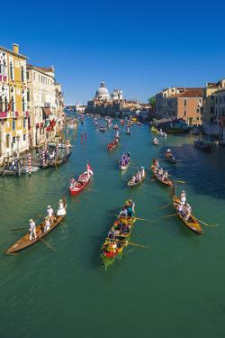 Venice, Veneto, Italy. Historical Regatta Event on the Grand Canal by Marco Bottigelli