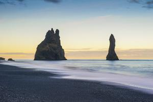 Vik, Southern Iceland. Reynisfjara Beach and Rock Formations. by Marco Bottigelli