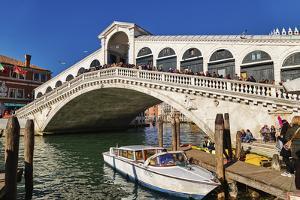 Rialto Bridge on Grand Canal, Venice, UNESCO World Heritage Site, Veneto, Italy, Europe by Marco Brivio