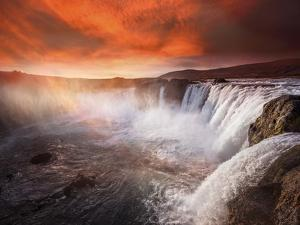 Godafoss Deep Red by Marco Carmassi