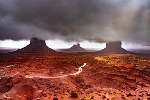 Monument Valley  Super Clouds by Marco Carmassi