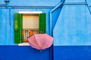 Pink Umbrella in Venice by Marco Carmassi