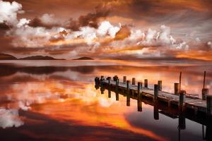 Sunset Pier by Marco Carmassi