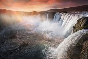 The waterfall of the gods, Iceland by Marco Carmassi
