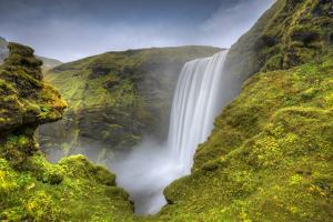 wild waterfall Iceland by Marco Carmassi