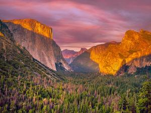 Yosemite Valley Sunset by Marco Carmassi