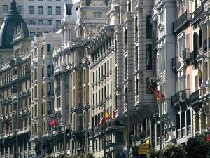 Calle Gran Via, Madrid, Spain, Europe by Marco Cristofori