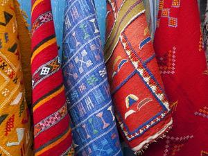 Carpets, Chefchaouen, Morocco, North Africa, Africa by Marco Cristofori
