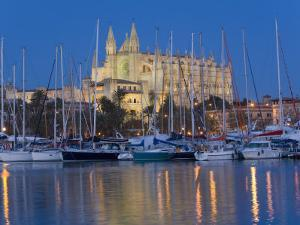 Cathedral and Port, Palma, Majorca, Balearic Islands, Spain, Mediterranean, Europe by Marco Cristofori