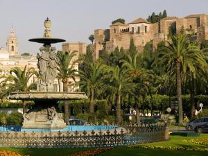 General Torrijos Square and Alcazaba, Malaga, Andalucia, Spain, Europe by Marco Cristofori