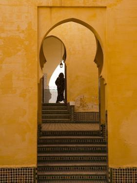 Mausoleum of Moulay Ismail, Meknes, Morocco, North Africa, Africa by Marco Cristofori