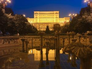 Palace of Parliament, Former Ceausescu Palace, Bucharest, Romania, Europe by Marco Cristofori