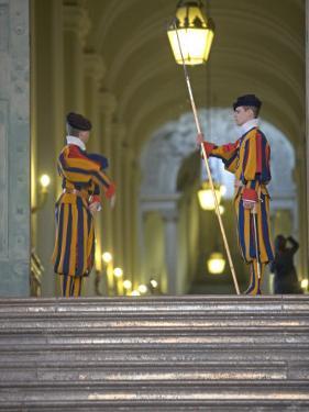 Swiss Guards, St. Peter's Square, Vatican City, Rome, Lazio, Italy, Europe by Marco Cristofori