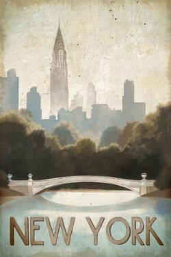 City Skyline New York Vintage V2 by Marco Fabiano