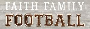 Game Day III Faith Family Football by Marco Fabiano