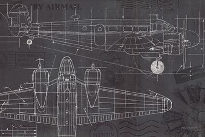 Plane Blueprint I by Marco Fabiano